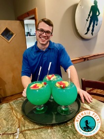 Cape Fear Fish Bowl cocktails_friendly waiter