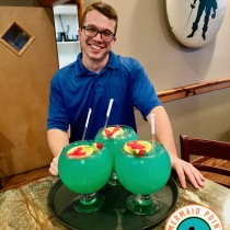 Cape Fear Fish Bowl cocktails_friendly waiter